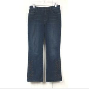 Ralph Lauren Petite Embroidered Jeans Boot Cut 6P